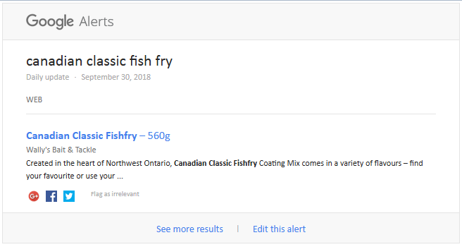 Wally's is stocking canadian classic fishfry.