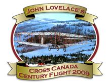 john lovelace cross canada flight logo